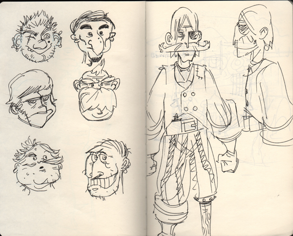 Behind the Scenes: Pirate Sketches