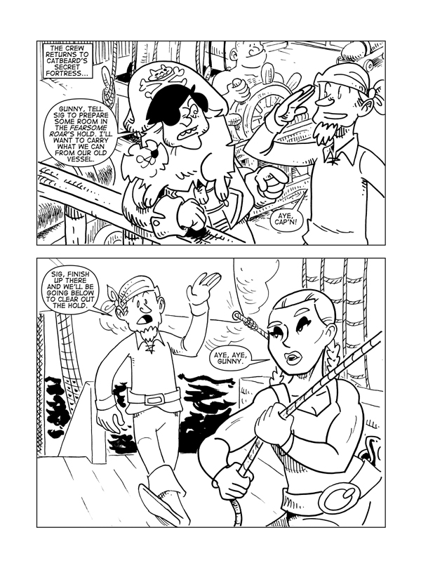 The Death Of Catbeard The Pirate, Page 1